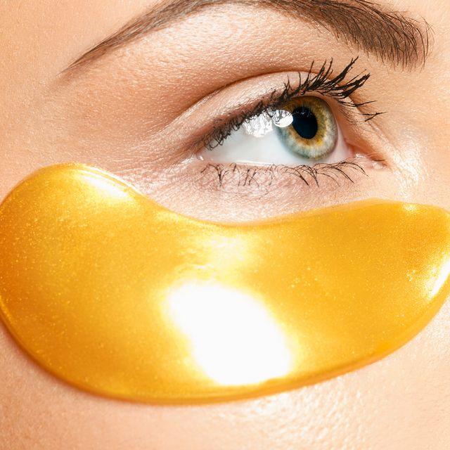 Patchs en or 24K en hydrogel pour les yeux, coussinets anti-âge, 5x2 patchs