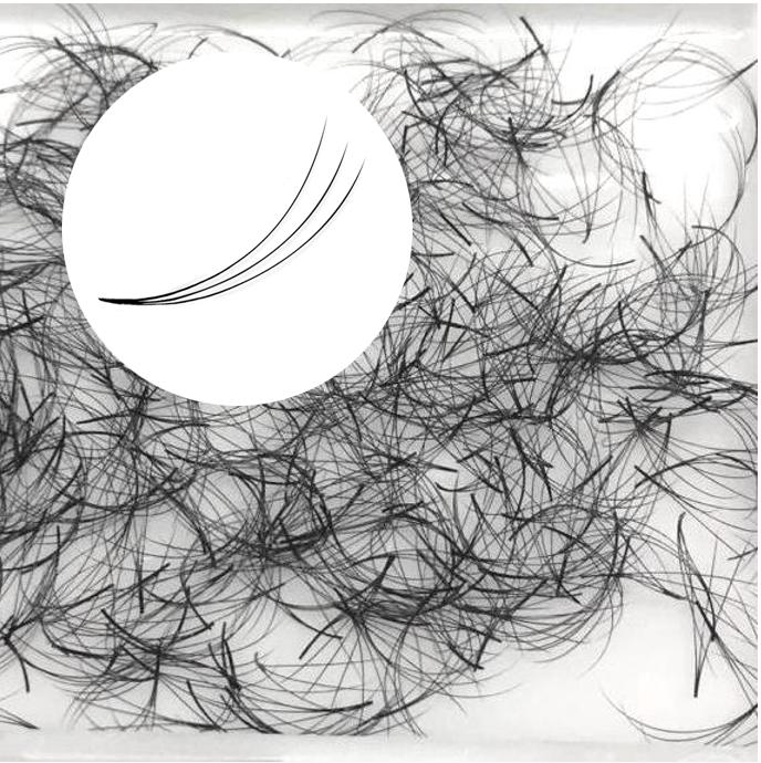 500 cils pré-ventilées 3D, sans nœud, idéal pour les techniques de volume