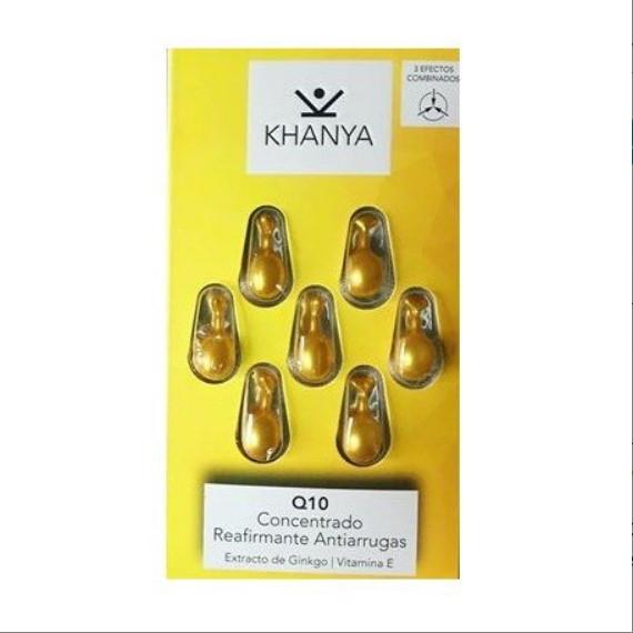 Perles anti-rides de Khanya - Concentré pour le visage et les yeux avec Q10, contre le vieillissement cutané