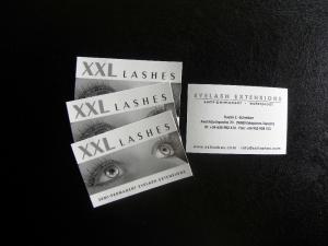 1000 cartes de visite XXL Lashes à votre nom