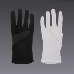 Gants de coton - en noir et blanc