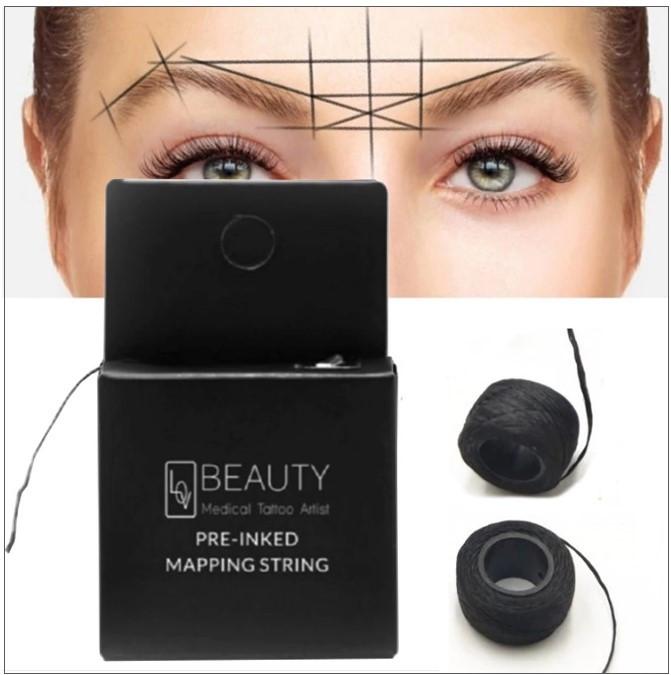 Fil marqueur de 10m pour les sourcils, fil pré-coloré comme aide au positionnement lors du microblading des sourcils