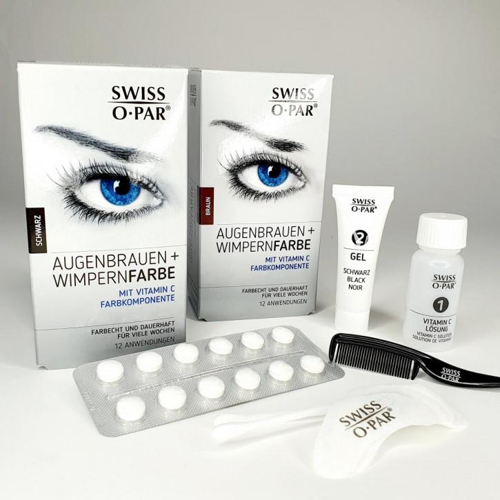 Teinture pour cils et sourcils 2.0 de Swiss o-Par, résistante à l'eau et aux couleurs