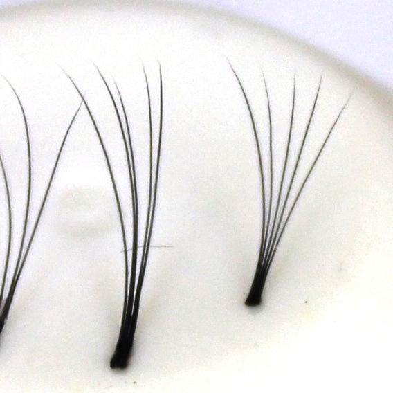 120 extensions de cils 5D, ultra léger sans nœud | 0,12 mm d'épaisseur | 7 mm de long | C-Curl