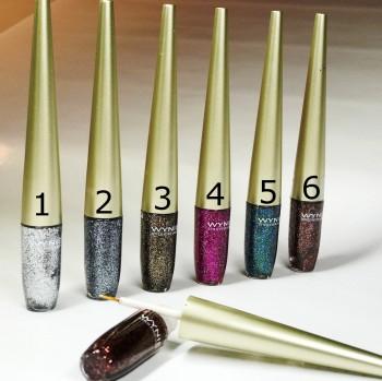 Glitter Eyeliner pour le maquillage scintillant festif, en 6 couleurs différentes