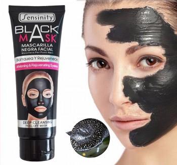 Le masque facial noir Sensinity élimine les impuretés de la peau et les points noirs, 130 ml