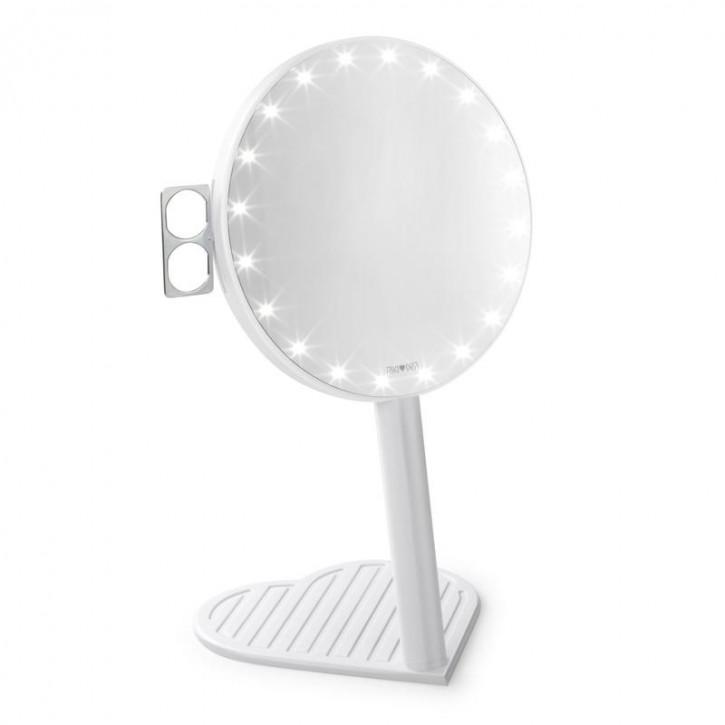 Miroir grossissant RIKI GRACEFUL 7x avec éclairage LED et gradation à 3 niveaux, un nouveau produit de l'édition Glamcor