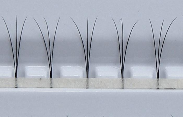 W-Lashes - 300 pcs | 0,10 mm d'épaisseur | longueur de 9 mm | D-Curl