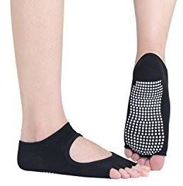 2 paires Socquettes yoga ou pilate pour femme, orteils séparés à l'air