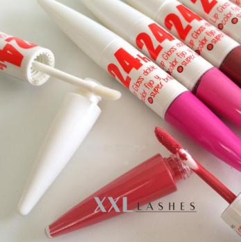Rouge à lèvres gloss 24 h, 2 en 1, couleurs lumineuses, haute brillance