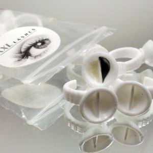 10 bagues double réservoir à colle /bagues réservoir de pigment