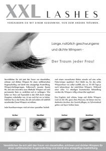Brochures promotionnelles, 100 pcs A5 - « œil » - allemand, avec sa propre adresse